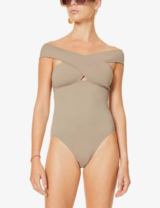 BONDI BORN Zara cross back one-piece swimsuit