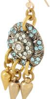 Lulu Frost Audrey gold-tone Swarovski crystal earrings