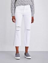 J Brand Selena frayed-hem mid-rise jeans