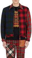 Loewe Men's Patchwork Plaid Shirt