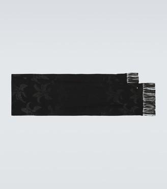 Saint Laurent Embroidered silk scarf