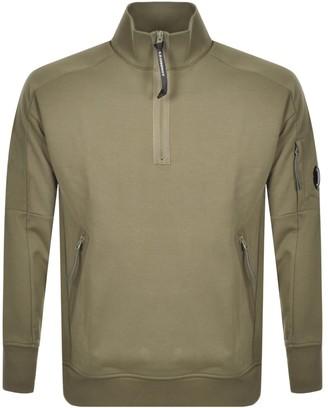 C.P. Company Half Zip Sweatshirt Green