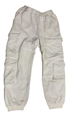 Louis Vuitton White Velvet Trousers