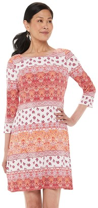 Chaps Women's Multi-Print Sheath Dress