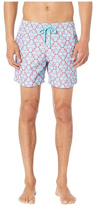 Vilebrequin Moorea Data Turtles Swim Trunks (Cherry Blossom) Men's Swimwear