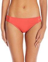 Vince Camuto Women's Fiji Solids Double Strap Side Bikini Bottom