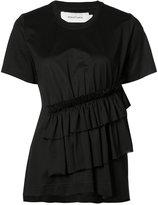 Marques Almeida Marques'almeida - gathered detail T-shirt - women - Polyamide/Polyester - M