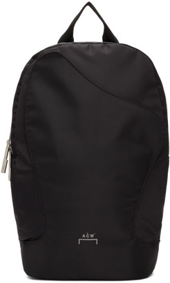 A-Cold-Wall* Black Curve Flap Backpack