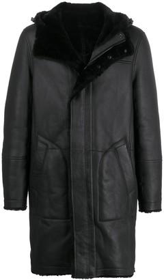 Yves Salomon Long Hooded Coat