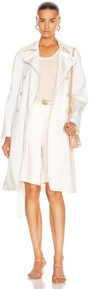 Nili Lotan Oliver Trench Coat in White Sand | FWRD