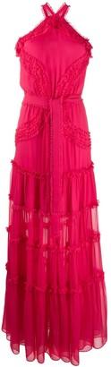 Alexis silk halter-neck maxi dress