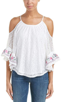 VOOM by Joy Han VOOM BY JOYHAN Kinsley Cold-Shoulder Top