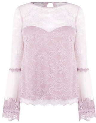 Girls On Film Girls Lace Silver Top