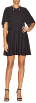 ABS by Allen Schwartz Crepe Cut Out Flare Dress