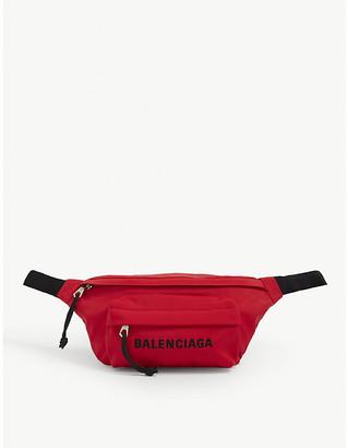 Balenciaga Wheel logo-print woven belt bag