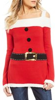 So It Is Cold Shoulder Santa Holiday Sweater