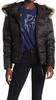 G Star Whistler Faux Fur Puffer Jacket