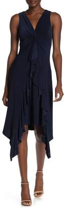 Taylor Twist Knot Sharkbite Hem Dress (Regular & Plus Size)