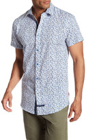 English Laundry Short Sleeve Print Regular Fit Woven Shirt