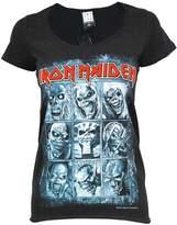 Amplified Official Womens Iron Maiden 9 Eddies T Shirt