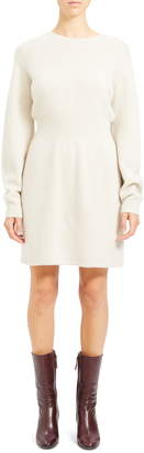 Theory Wool & Cashmere Long Sleeve Sweater Dress