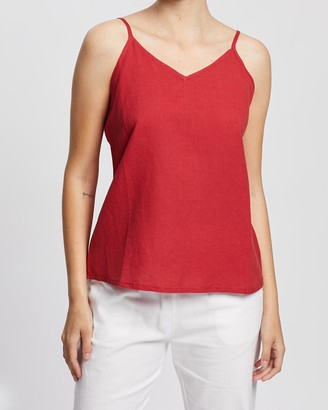 KAJA Clothing - Women's Red Sleeveless Tops - Cleo Top - Size One Size, XS at The Iconic
