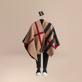 Burberry Check Wool Cashmere Blanket Poncho