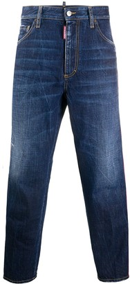 DSQUARED2 Logo Tape Cropped Jeans
