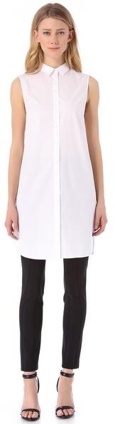 Alexander Wang Sleeveless Shirtdress