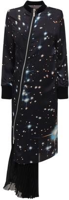 Sacai Star Print Satin Long Dress