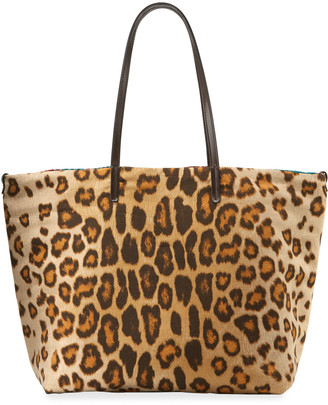 Etro Leopard-Print Shopper Tote Bag