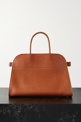 The Row Margaux 15 Buckled Leather Tote - Tan