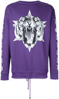 Marcelo Burlon County of Milan tiger print sweatshirt - men - Cotton - L