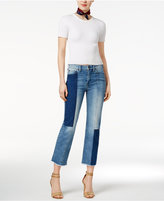 True Religion Patchwork Cropped Jeans