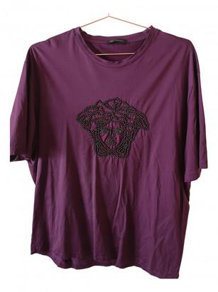 Versace Burgundy Cotton T-shirts