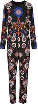 MSGM Printed stretch-crepe jumpsuit