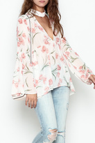 Sage Floral Print Blouse