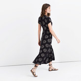 Madewell Silk Moonshade Maxi Dress in Palmflower