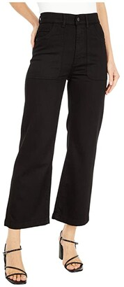 DL1961 Hepburn Wide Leg High-Rise Vintage in Blackwell (Blackwell) Women's Jeans