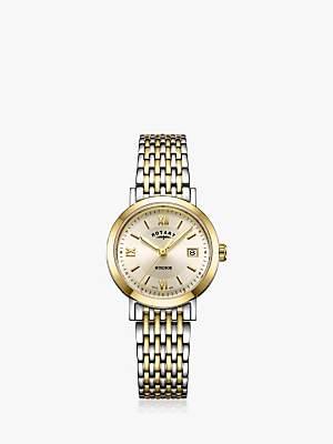 Rotary LB05301/09 Women's Windsor Date Bracelet Strap Watch, Multi/Gold
