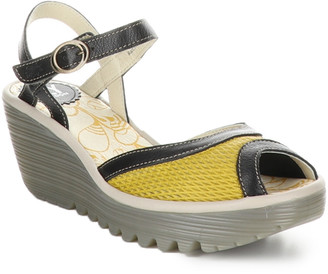 Fly London Yans Leather Wedge Sandal