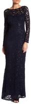 Marina Long Lace & Sequin Gown (Plus Size)