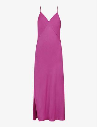 AllSaints Melody silk-satin slip midi dress