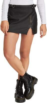 Free People Midnight Magic Faux Leather Miniskirt
