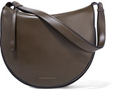 Victoria Beckham Swing Leather Shoulder Bag - Army green