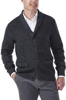 Haggar Men's Classic Fit Textured Shawl-Collar Cardigan