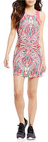 Nanette Lepore Play Active Paisley Printed Knit and Lace Dress