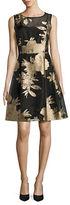 Ellen Tracy Floral Print Sleeveless Dress