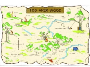 York Wall Coverings York Wallcoverings Winnie The Pooh - 100 Aker Wood Peel and Stick Map