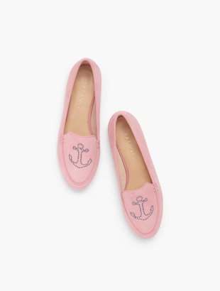 Talbots Ryan Embroidered Anchor Loafers